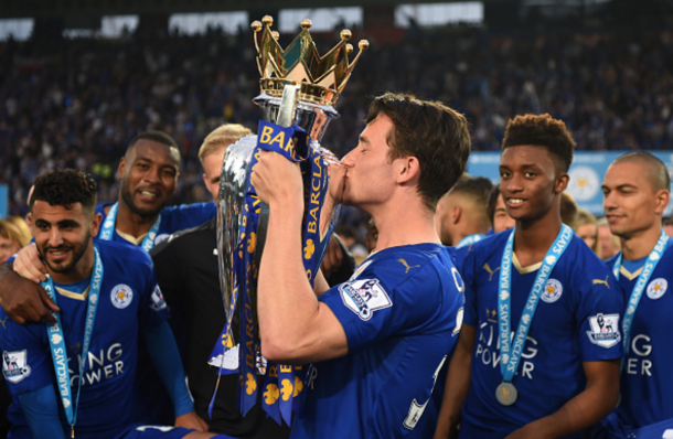 Chilwell with the Premier League trophy, although he's yet to make his league bow. (Picture: Getty Images)