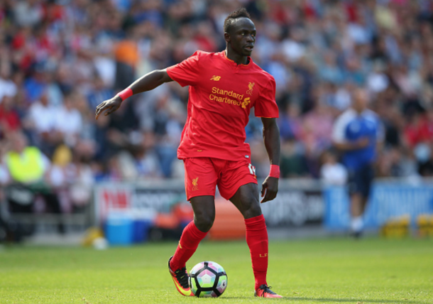 Mane continued to impress his new boss with a lively display down the flank. (Picture: Getty Images)
