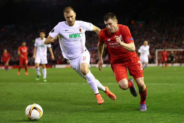 Klavan in action against Liverpool in the Europa League back in February. (Picture: Getty Images)