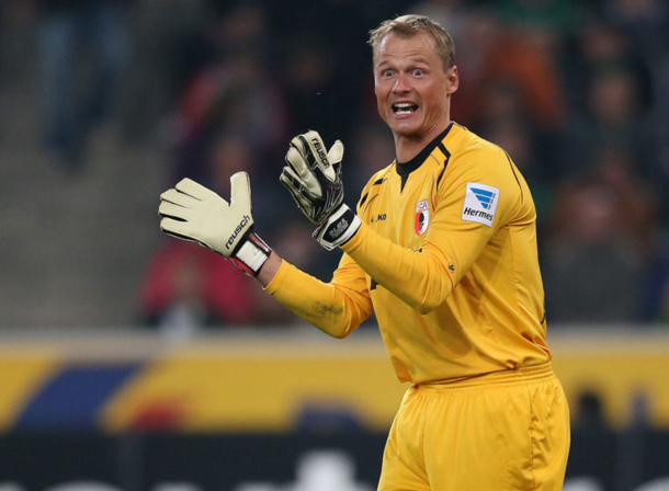 Manninger in action for Augsburg, where he most recently spent four seasons. (Picture: Getty Images)