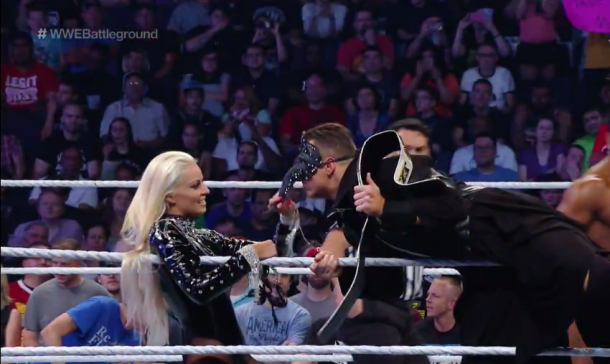 The Miz displaying a somewhat unique facial mask (image: WWE Network)