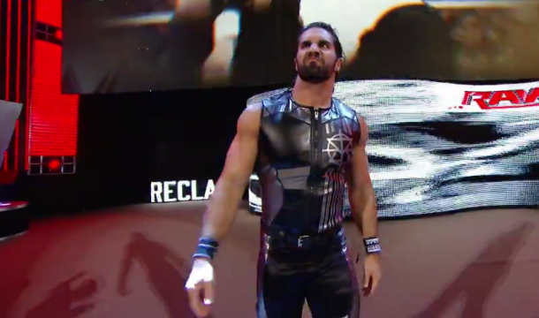 Seth Rollins makes his way to the ring (image: WWE NETWORK)
