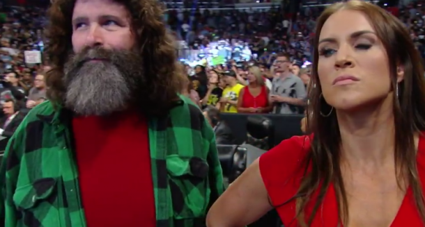 Stephanie McMahon is clearly angry as Dean Ambrose remains WWE Champion (image: WWE NETWORK)