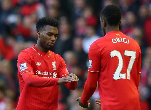 A dovetailing Origi and Sturridge partnership is a tantalising prospect. (Picture: Telegraph)