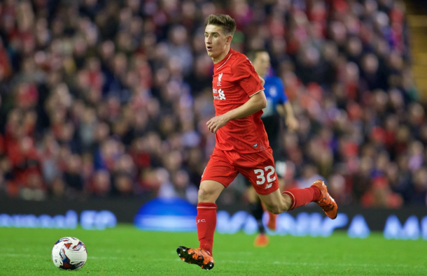 Brannagan in action on his first Liverpool start against Bournemouth last October. (Picture: Getty Images)