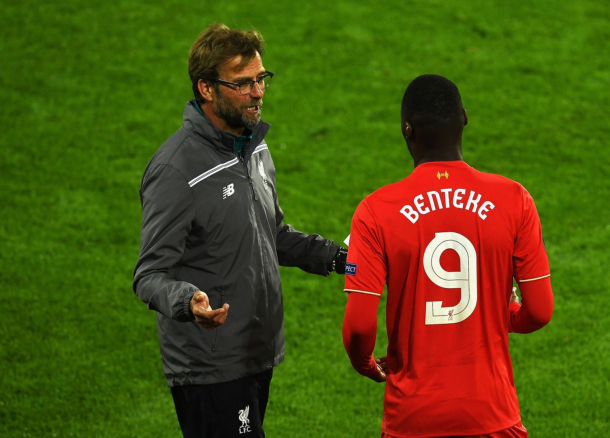 Benteke doesn't fit in with Klopp's style-of-play and will likely move on as a result. (Picture: Getty Images)