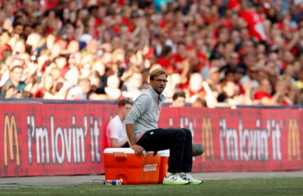 Klopp insists a decision for their Arsenal line-up will have to wait. (Picture: Getty Images)