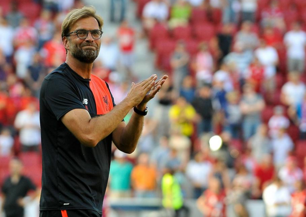 Despite the result, Klopp was delighted to return to his former club. (Picture: Getty Images)