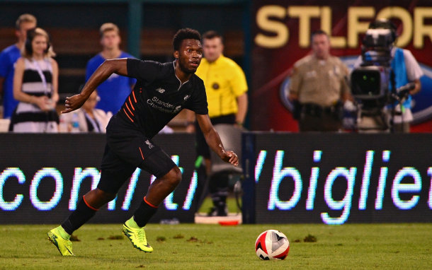 Sturridge in action against AS Roma on the Reds' pre-season tour of the USA. (Picture: IB Times)