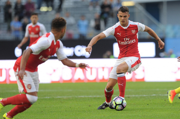 Xhaka is likely to make his competitive Arsenal debut on Sunday. (Picture: Getty Images)