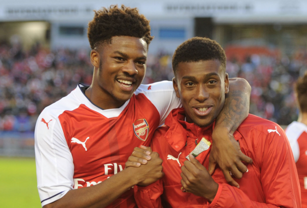 Gunners youngsters Akpom and Iwobi have been backed to impress. (Picture: Getty Images)