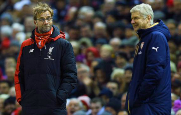 Klopp and Wenger go head-to-head for just the second time in the Premier League on Sunday. (Picture: Getty Images)