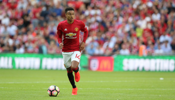 Lingard during the Community Shield (Stephen White/Getty Images)