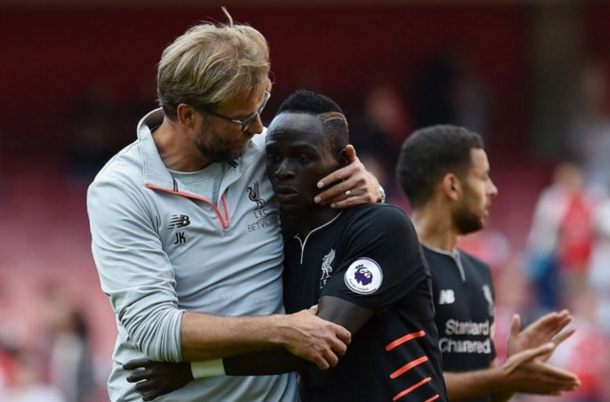 Klopp, like many, was enthused by Mane's performance at the Emirates on Sunday. (Picture: Getty Images)
