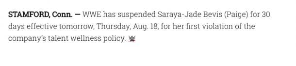 The Statement on WWE.com (image: wwe,com)