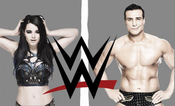 Alberto Del Rio and Paige were both suspended yesterday (image: Joel Lampkin)