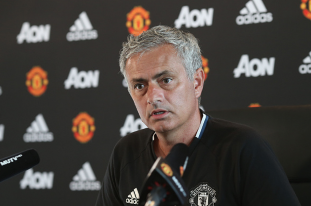 Mourinho answering a question during his press conference (John Peters/Getty Images)