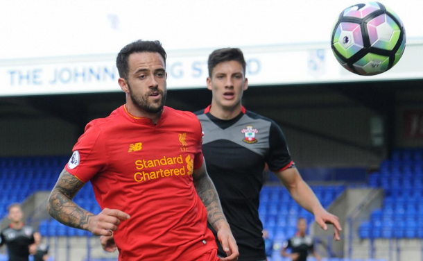 Ings in action for Liverpool U23s in their defeat to Southampton last Saturday. (Picture: Premier League)