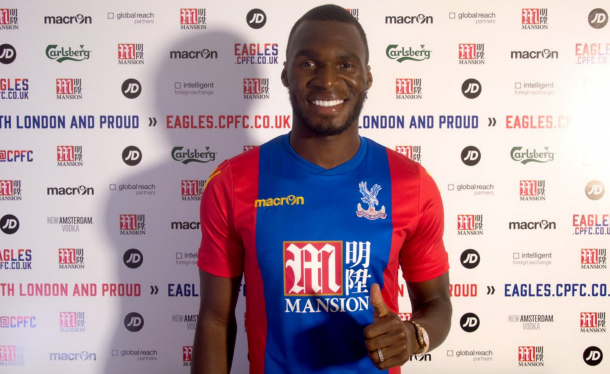 Benteke pictured in the Palace colours for the first time. (Picture: Crystal Palace FC)