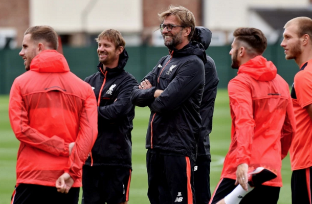 Klopp in Liverpool training at Melwood last week. (Picture: Getty Images)