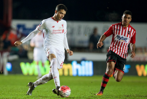 Ilori on his first Liverpool start against Exeter City back in January. (Picture: Getty Images)
