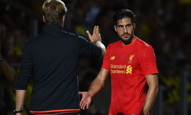 Can was forced off mid-way through the second-half with an ankle problem. (Picture: Liverpool FC)