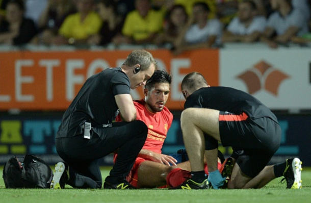 Can is unlikely to feature with an ankle problem. (Picture: Liverpool Echo)
