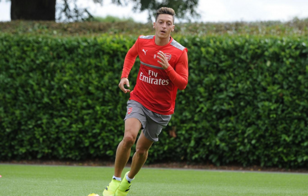 Ozil is touch and go to start at Watford. (Picture: Getty Images)