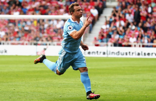 Stoke are hopeful Shaqiri will be back in the squad for the trip to Everton. (Picture: Getty Images)