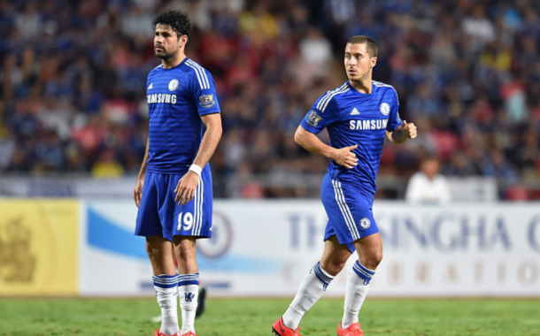 Hazard and Costa are already making their marks this season, something they struggled to do last season for the Blues. (Thananuwat Srirasant/Getty Images)