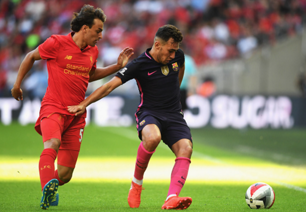 Markovic in action against Barcelona in pre-season, where he grabbed an assist in a 4-0 win. (Picture: Getty Images)