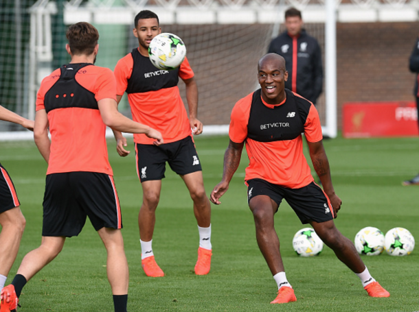 Wisdom in training at Liverpool earlier in the summer. (Picture: Getty Images)