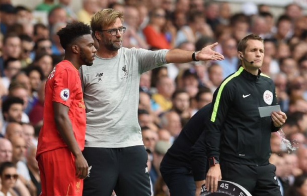 Despite needing goals, Klopp only brought Daniel Sturridge on with three minutes left. (Picture: Getty Images)