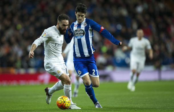 Alberto in action for Deportivo against Real Madrid last season. (Picture: Getty Images)