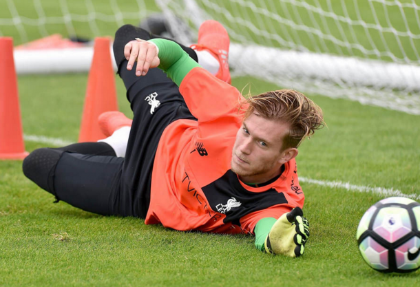 Karius in training at Melwood. (Picture: Getty Images)