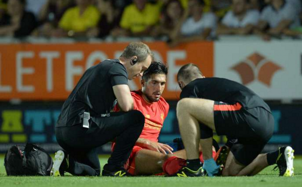 Can had to be taken off injured away at Burton. (Picture: Getty Images)