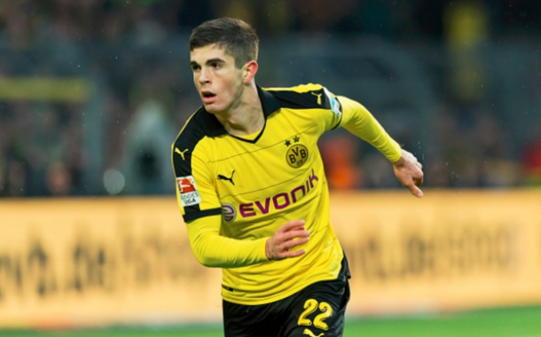 Pulisic is the youngest foreigner ever to score in the German Bundesliga. (Picture: Getty Images)