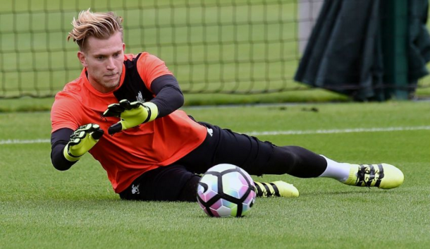 Karius is now back in full training, as pictured on Tuesday. (Picture: Liverpool FC via Getty Images)