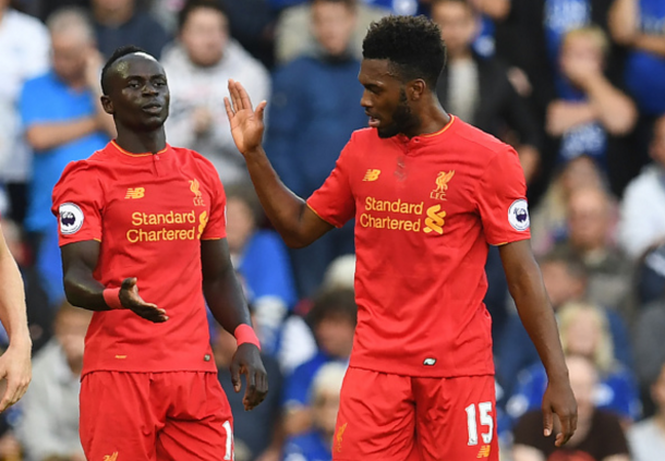 Mane celebrates with Sturridge, who assisted his effort to make it 2-0. (Picture: Getty Images)