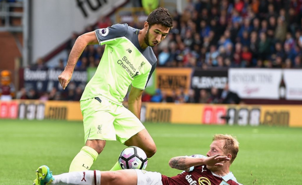 Grujic has made just one competitive appearance for the club so far, against Burnley. (Picture: Getty Images)