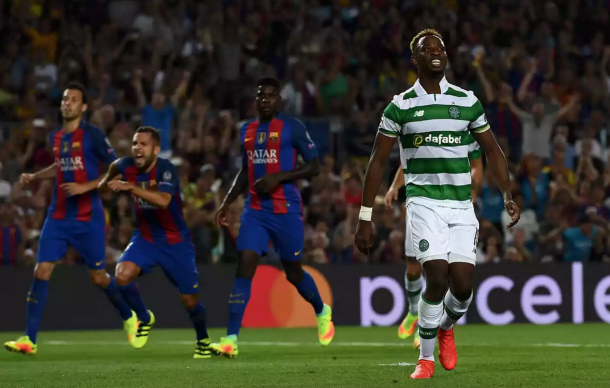 A frustrated Dembele after seeing Ter Stegen save his first-half penalty. (Picture: Getty Images)