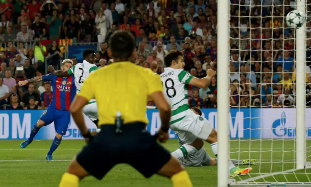 Messi fires the breakthrough past Dorus de Vries early on. (Picture: Getty Images)