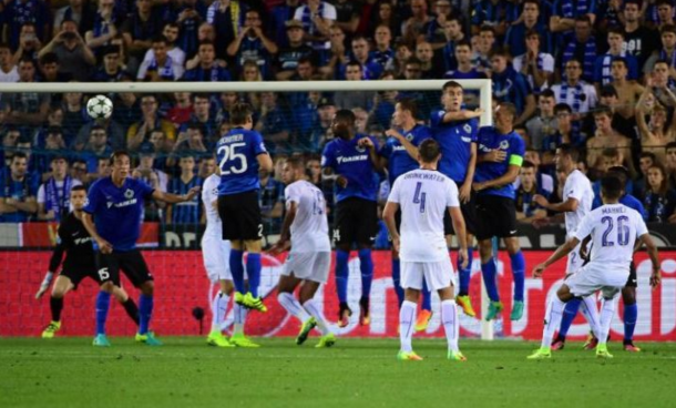 Mahrez's sublime free-kick flew into the far top corner on the half-hour. (Picture: Getty Images)
