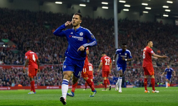 Klopp's Liverpool couldn't shackle Hazard at Anfield back in May. (Picture: Getty Images)