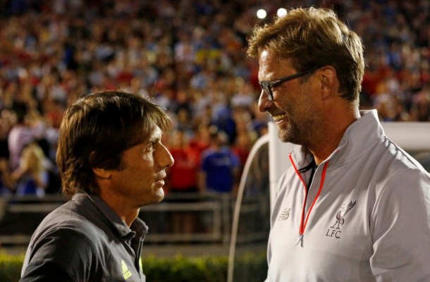 Conte and Klopp met in pre-season, but have yet to meet competitively. (Picture: Getty Images)