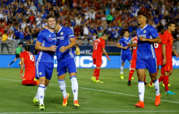 Cahill's header separated the two sides in pre-season in America back in July. (Picture: Getty Images)