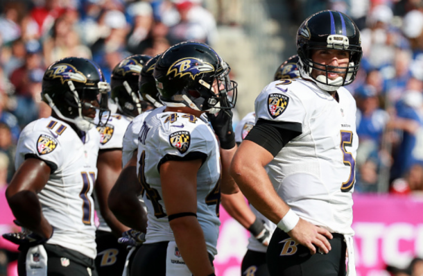Flacco got his side odd the mark first (Photo: Michael Reaves/ Getty Images)