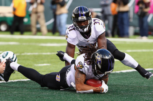 Moore's touchdown handed the Ravens an early lead (Photo: Al Bello/ Getty Images)