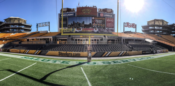 Heinz Field is ready for tonight's game (Photo: @steelers/ twitter)