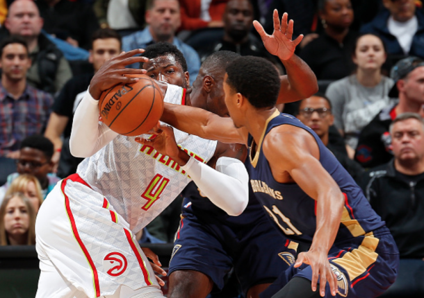 The Hawks had very few answers for the Pelicans on both ends of the floor. (Photo by Kevin Cox/Getty Images)